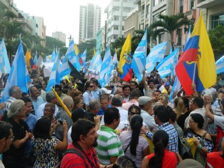 protestas Guayaquil - la hora