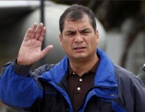 Rafael Correa en campaña