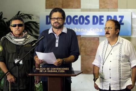 Representantes de las FARC en la Habana