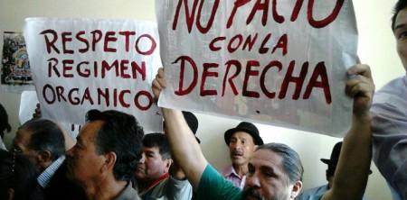 Protestas en Reunión Pachakutik (Foto El Comercio )