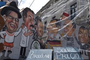 Parodia de la política ecuatoriana. Foto: La Línea de Fuego