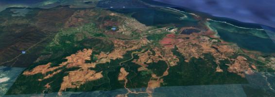 Un desierto que se comió durante décadas flora y fauna del lugar: imagen satelital que testimonia las consecuencias de la explotación del níquel en Cuba.