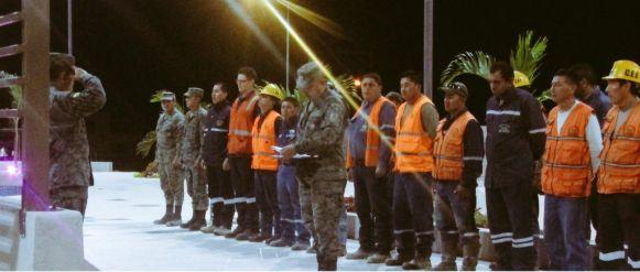 El Cuerpo de Ingenieros del Ejército en formación a la madrugada, solo se ve hombres en las calles de la parroquia y eso no cambia mucho durante el día. Foto: Romano Paganini